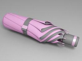 Pink Telescopic Umbrella 3d preview