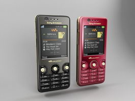 Sony Ericsson W660i 3d model preview
