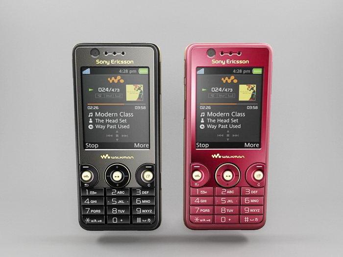 Sony Ericsson W660i 3d rendering