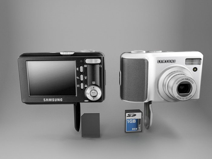 Samsung S1030 Digital Camera 3d rendering
