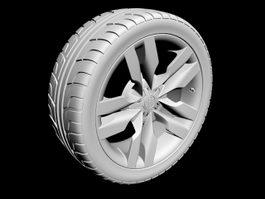 Audi S6 Wheel 3d model preview