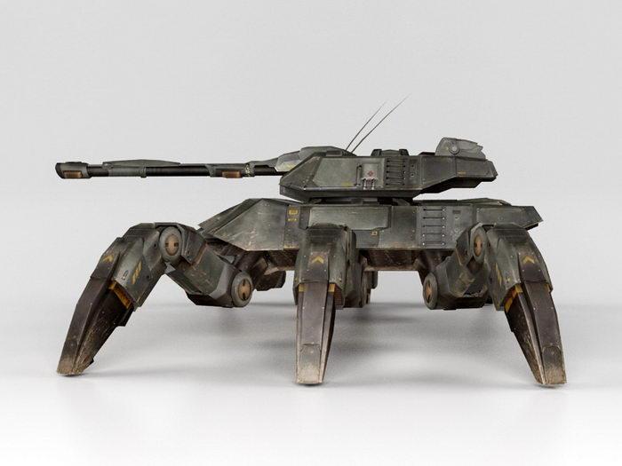 Giant Spider Tank 3d rendering