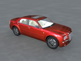 Chrysler 300 Red Sedan 3d preview