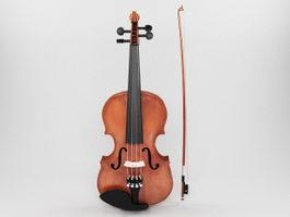 Acoustic Violin 3d preview