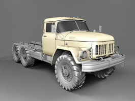 International Flatbed Truck 3d preview