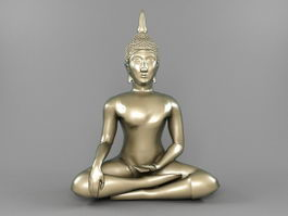 Thai Bodhisattva Statue 3d preview