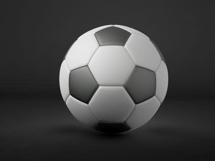 Football Soccer 3d rendering