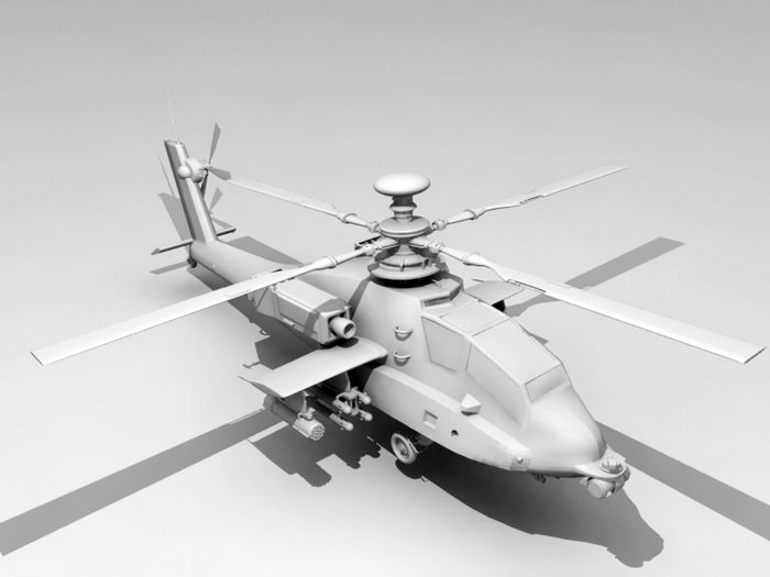 Military Helicopters 3d rendering