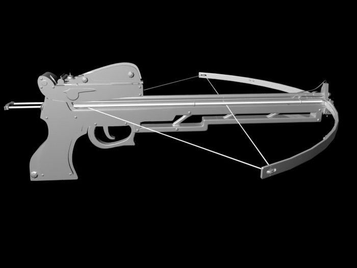 Military Compound Crossbow 3d rendering