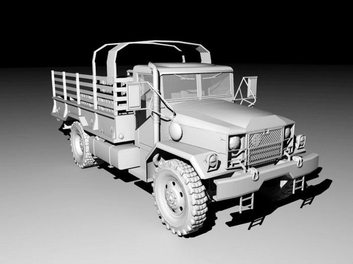 Vintage Army Truck 3d rendering