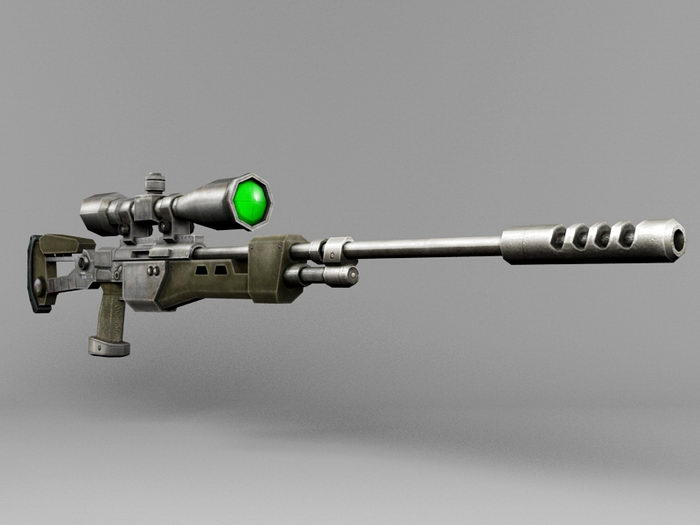 Cool Sniper Rifle 3d rendering