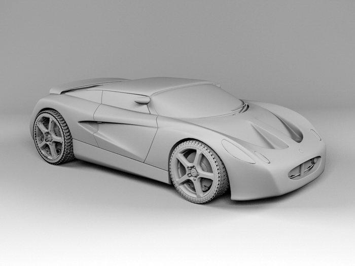 Lotus Elise Sports Car 3d rendering