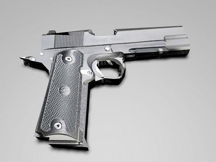 M1911 Pistol 3d rendering
