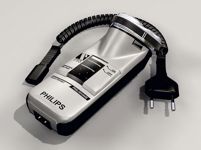 Philips Shaver 3d rendering