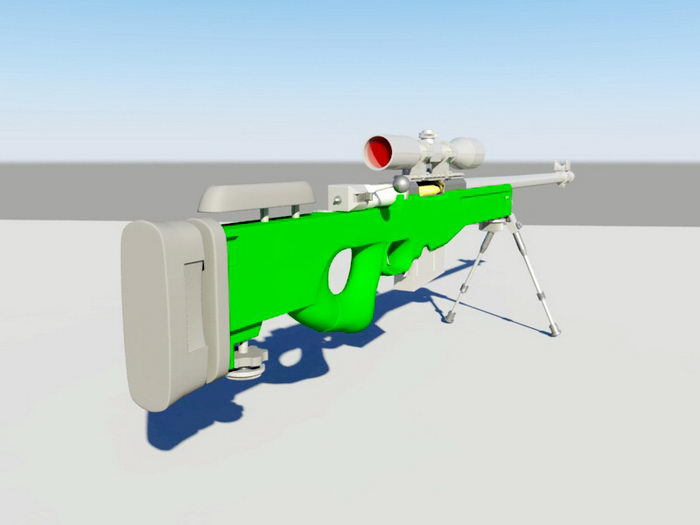 AWP Sniper Rifle 3d rendering