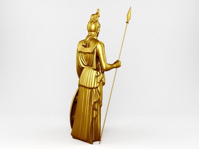 Statue of Pallas Athena 3d rendering