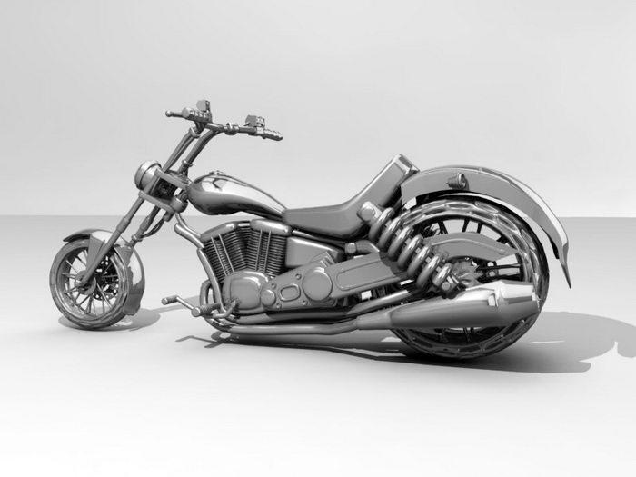 Sport Cruiser Motorcycle 3d rendering
