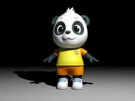Cartoon Panda Rig 3d model preview