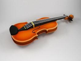 Beautiful Violin 3d preview