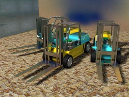 Industrial Forklift Truck 3d preview