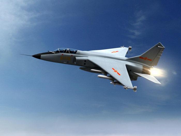 Xian JH-7 Fighter Bomber 3d rendering