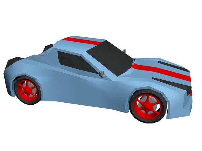 Cartoon Car 3d rendering