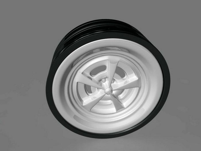 Truck Wheel 3d rendering