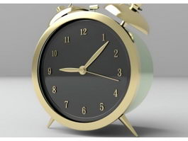Vintage Alarm Clock 3d preview