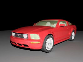 1965 Ford Mustang Coupe 3d preview