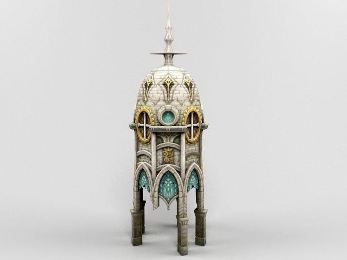 Gothic Church 3d rendering