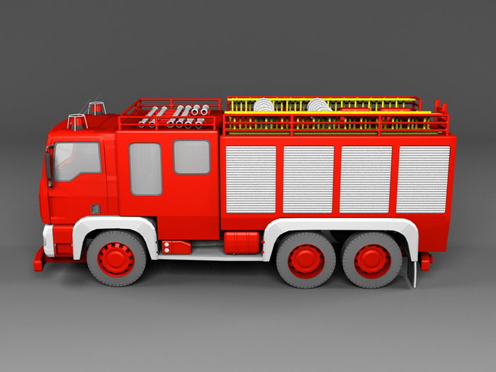 Fire Engine Truck 3d rendering