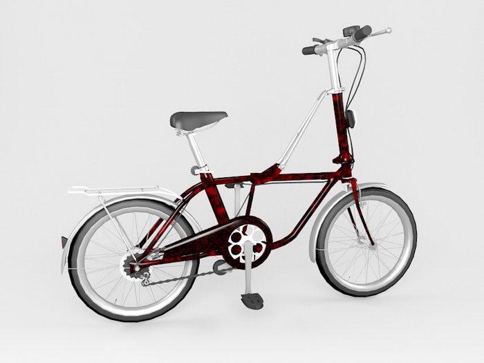 Street Bicycle 3d rendering