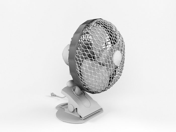 Mini Clip Fan 3d rendering
