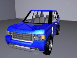 Vintage Land Rover 3d preview