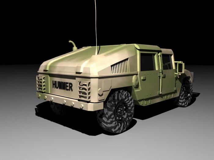 Military Hummer 3d rendering
