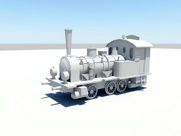 Steam Locomotive 3d rendering