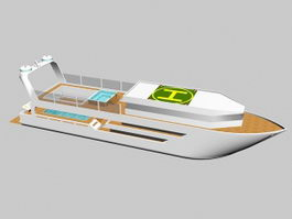 Super Yacht 3d preview