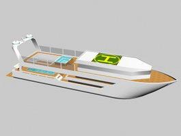 Super Yacht 3d model preview