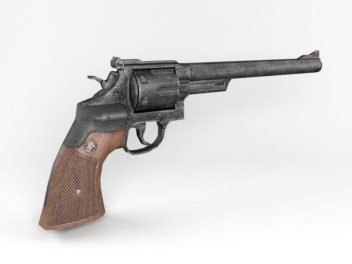 S&W M29 Revolver 3d rendering