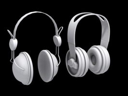 Two Headphones 3d preview
