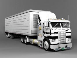 Freightliner Semi Truck 3d preview