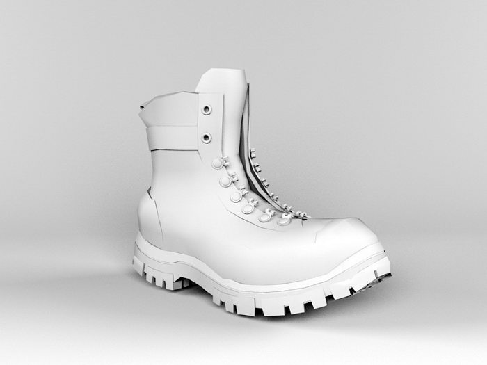 Military Boots 3d rendering