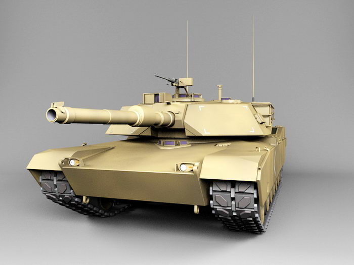 M1 Abrams American Tank 3d rendering