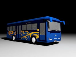 Modern Coach Bus 3d preview