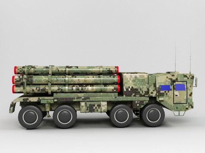 PHL-03 Multiple Rocket Launcher 3d rendering