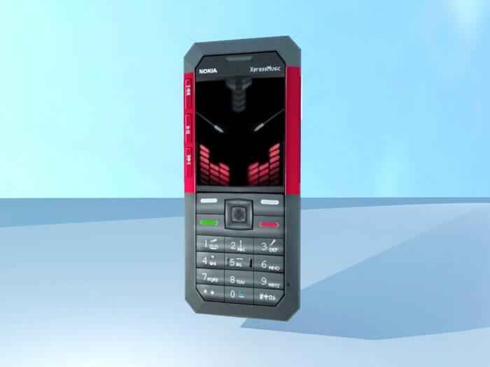 Nokia XpressMusic 3d rendering