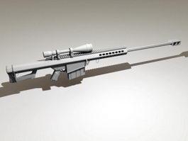 Barrett M82a1 Sniper System 3d preview