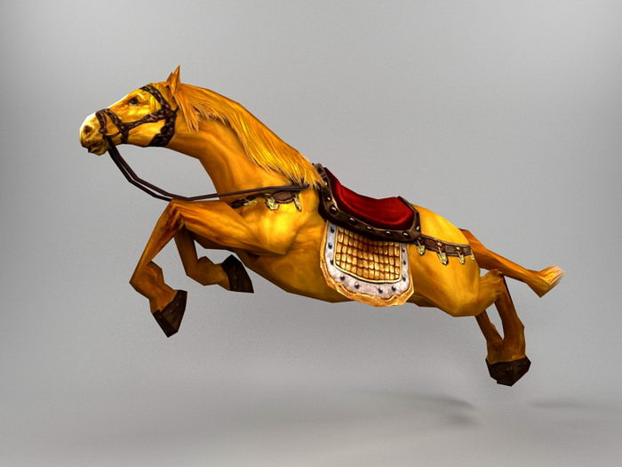 Animated Horse Rig 3d rendering