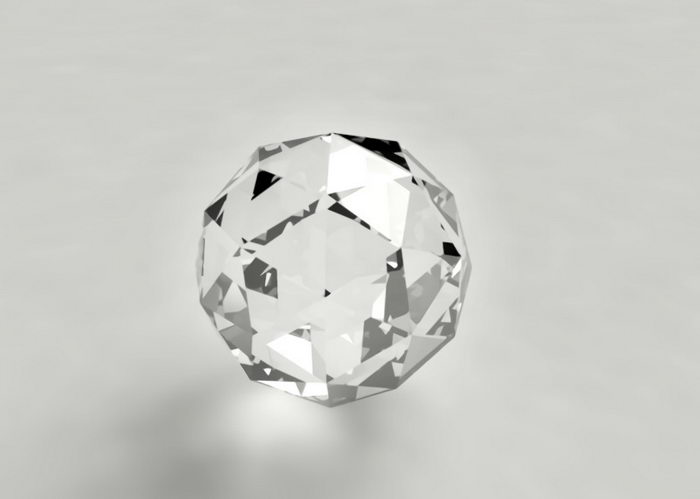 Diamond Ball 3d rendering
