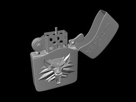 Unique Zippo Lighter 3d model preview